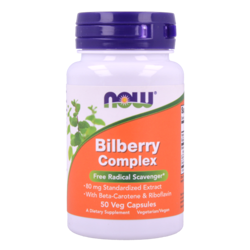 Now Foods Bilberry Complex 80 mg 50 vcaps