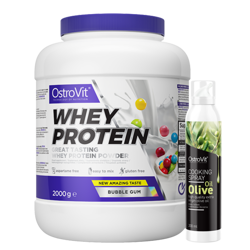 OstroVit Whey Protein 2000 g + OstroVit Cooking Spray Olive Oil 200 ml